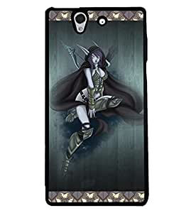 PRINTVISA Premium Metallic Insert Back Case Cover for Sony Xperia Z - D5745