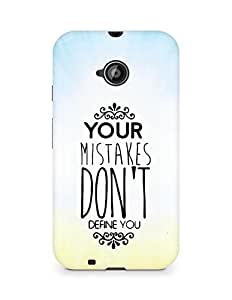 AMEZ your mistakes dont define you Back Cover For Motorola Moto E2
