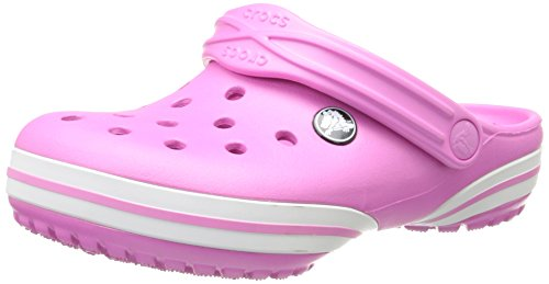 Crocs Crocband-X Clog - Girls' Party Pink/White, 8/9