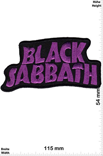 Patch - Black Sabbath - purple - MusicPatch - Rock - Chaleco - toppa - applicazione - Ricamato termo-adesivo - Give Away