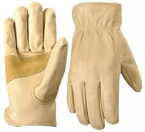 Wells Lamont 1130XXL Work Gloves with Grain Palomino Cowhide, Keystone Thumb, Self-Hem, Palm Patch, Size XXL