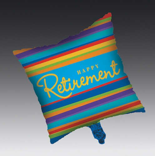 Retirement Stripes Balloon - 1