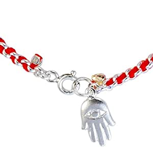 Amazon.com: Kabbalah Red String Bracelet woven in silver