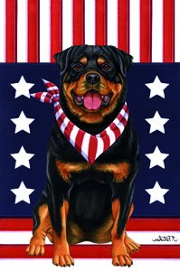 Amazon.com : Rottweiler - Tomoyo Pitcher Patriotic Garden Flag : Patio