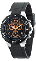 Sector Men's Quartz Watch with Black Dial Chronograph Display and Black PU Strap R3271611002