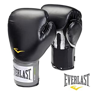 Everlast Pro Style Training Gloves (Black, 16 oz.)