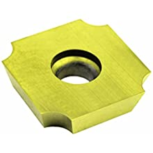 "Dorian Tool SDGX Multilayer Coated Carbide Square Convex Milling Indexable Insert, 0.2187"" Nose Radius, 3/4"" Insert, 3/16"" Thick (Pack of 10)"