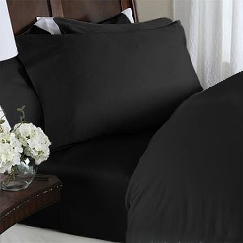 Black Queen Bed Set 2624 front