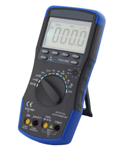HOLDPEAK 760J Digital LCD Multimeter With Diode, hFE And Continuity Test - This Multi Tester is For Electronic Measurement With Data Hold And Backlight In School, Laboratory, Factory And Other Social Field, Blue/Black (Dwell Appliance compare prices)