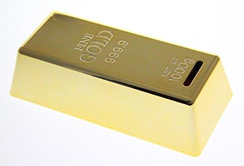 JustNile Shiny Gold Bullion Brick Miniature Coin Bank