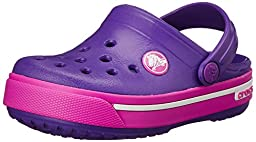 crocs Crocband II.5 K Clog (Little Kid/Toddler),Neon Purple/Neon Magenta, 4-5 M US Toddler