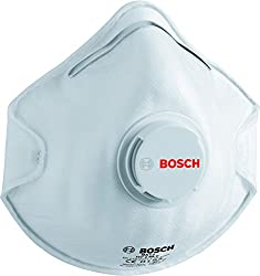 Bosch MAC2 Fine Dust Mask (White, Pack of 2)