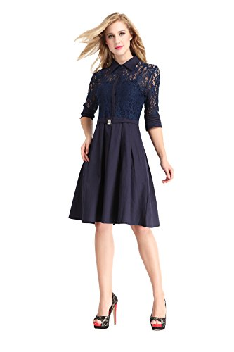 Eastabile®Women's Vintage 1950s Style 3/4 Sleeve Lace A ...