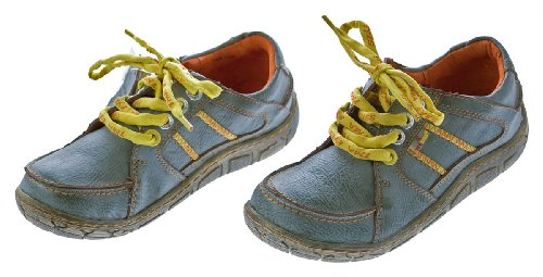 Leder Damen Halb Schuhe Comfort Sneakers Used Look Grau TMA Eyes Gr. 36