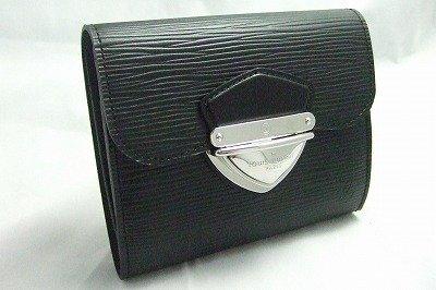 (ルイ・ヴィトン) LOUIS VUITTON ルイヴィトン エピ ブラック ポルトフォイユ・ジョイ LOUIS VUITTON 窓付ポケット付き財布 M66582