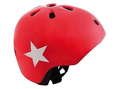 AGU STAR KIDS BMX/SKATE/BIKE BOYS/GIRLS CRASH HELMET RED WHITE STAR 50-54cm from AGU