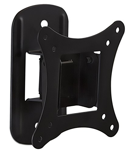 Mount-It! MI-2829 TV Mount For Flat Screens, Tilting TV Wall Mount Bracket Fits up to 25 Inch LCD, LED TVs and Computer Monitors VESA 75 and 100 Compatible Swivel Low-Profile Slim Design, 44 Lb Limit (Low Profile Monitor Wall Mount compare prices)