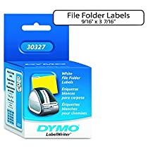 DYMO® 1-Up File Folder Labels for Label Printers, 3-7/16x9/16, White, 260 per Box