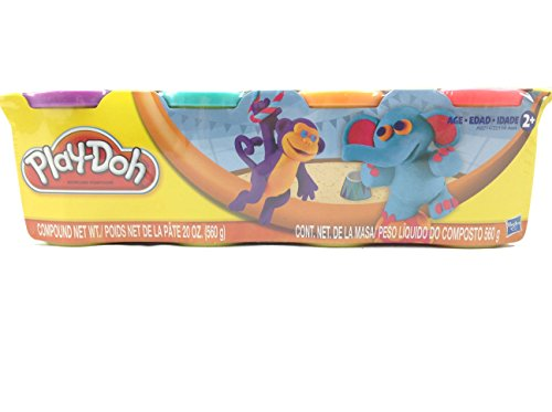 Play-Doh 4-Pack of Colors 20oz - Purple, Teal, Orange & Pink