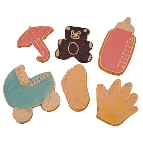 baby shower tin cookie cutter set 6 piece buy baby shower tin