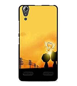 PrintDhaba Love cartoon D-4522 Back Case Cover for LENOVO A6000 PLUS (Multi-Coloured)