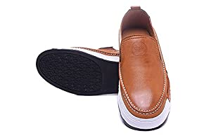 Men's The Devil Wears Prada Logo Embossing Leather Classic Slip on Casualshoes