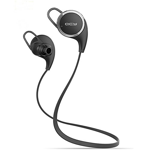 Matone® Qy8 [New Version Qy7] V4.1 Wireless Bluetooth Headphones Best In-Ear Noise Cancelling Headphones with Microphone for Running, Sports & Exercise, Mini Lightweight Sweatproof Stereo Bass Wireless Bluetooth Earbuds Headset Earphones for Apple Watch, iPhone 6, 6 Plus, 5 5c 5s 4, iPad 2 3 4, Mini Air 2, iPod Touch, Samsung Galaxy S6 S5 S4 S3, Note 2 3 4, LG G3 G4, HTC, Android Smart Phones & Tablets Bluetooth Devices with Discount