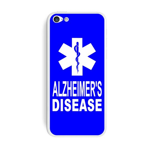 Graphics And More Alzheimer'S Disease - Medical Emergency - Star Of Life Protective Skin Sticker Case For Apple Iphone 5C - Set Of 2 - Non-Retail Packaging - Opaque