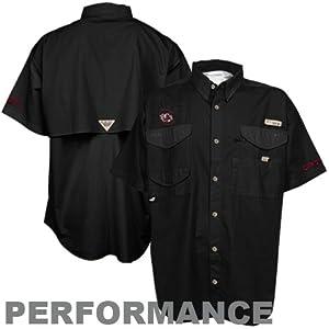 Columbia Men's Collegiate Bonehead Short Sleeve Shirt (Large, SC-Black)