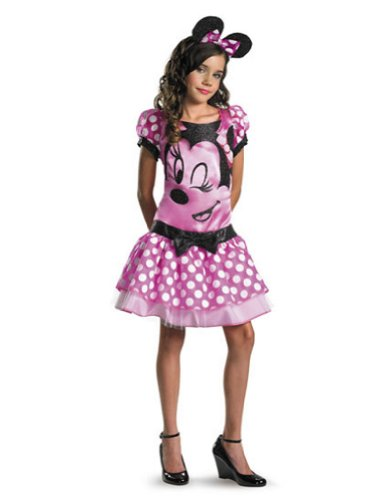 girls - Minnie Mouse Pink 10-12 Plus Halloween Costume - Child 10-12