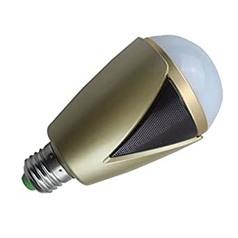 Mekarsoo m1007 led dimmable color change light bulb with for Led light bulb with built in bluetooth speaker