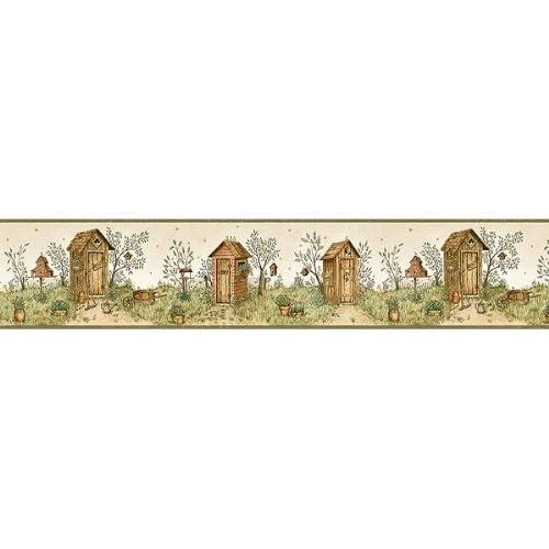 Garden Outhouse Wallpaper Border