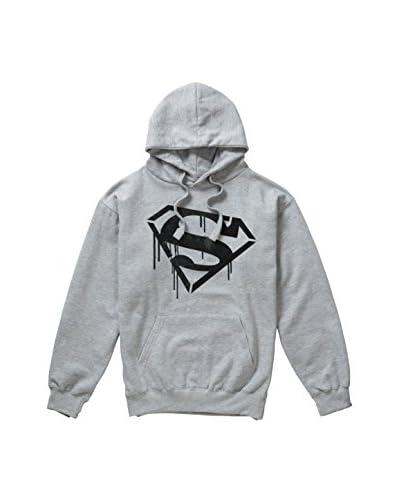 ZZ-DC Comics Sudadera con Capucha Superman Stencil