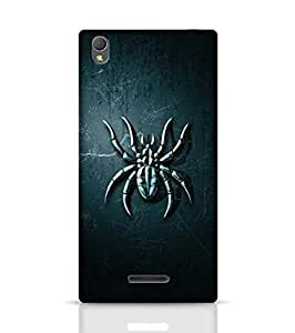 Stylebaby Phone Case Spider Blue Back Cover for Sony Xperia T3 Multicolor