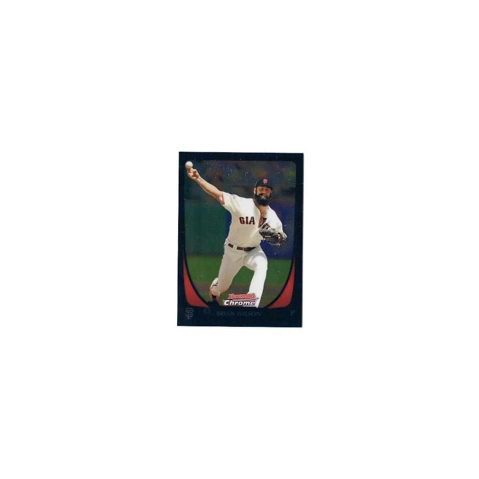 2011 Bowman Chrome #28 Brian Wilson San Francisco Giants