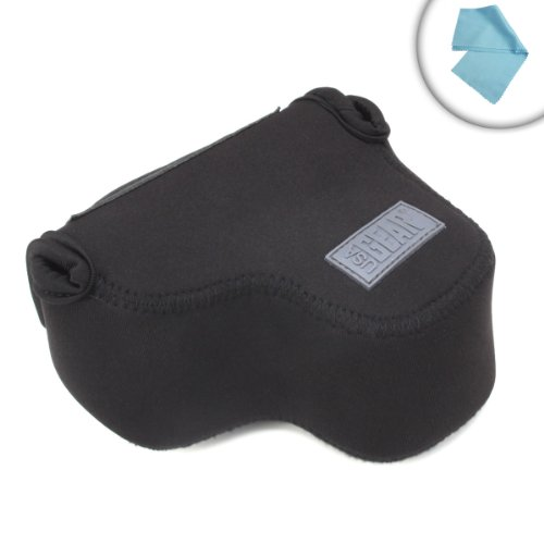 Flexarmor Portable Lightweight Digital Camera Sleeve Case By Usa Gear- Works With Canon Powershot Sx400 Is , G1 X Mark Ii , 1200D , 70D , 100D , T5I , Sl1 , Sx510Hs And More Canon Cameras **Includes Cleaning Cloth**