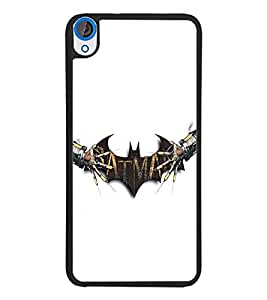 PrintDhaba Bat D-5402 Back Case Cover for HTC DESIRE 820 (Multi-Coloured)