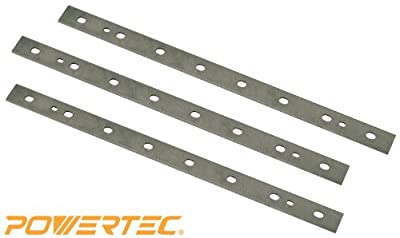 POWERTEC 128010 12-1/2-Inch HSS Planer Knives for DeWalt DW734, Pack of 3