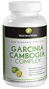 Garcinia Cambogia 100 Pure Extract 65 Hca -premium Strength Appetite Suppressant Lose Weight Fast - Top Diet Slimming Pills by nutrient wise