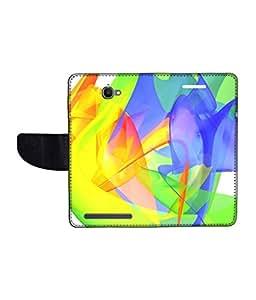 KolorEdge Printed Flip Cover For Alcatel One Touch Flash Multicolor - (1479-55KeMLogo11005AlcatelFlash)