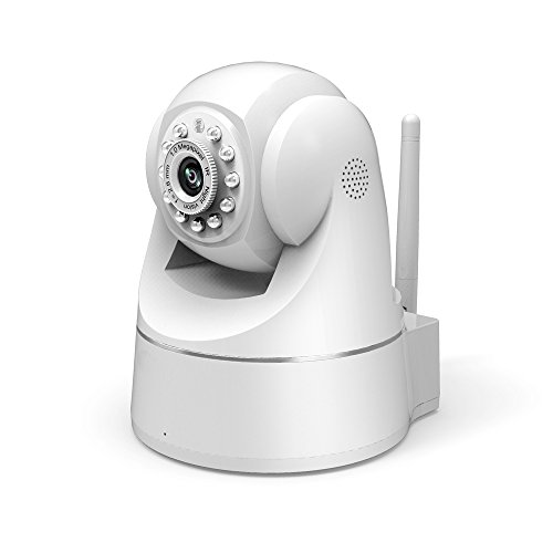E-Best®L807P Plug And Play Indoor Ip Camera Wired/Wireless + Pan/Tilt Network + Ir-Cut + H.264 (720P) + Wifi + Night Vision + Mic + Speaker (White) front-61907