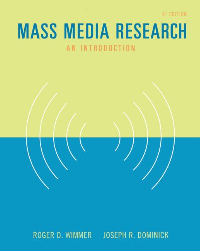 Mass Media Research: An Introduction (with InfoTrac) (Wadsworth Series in Mass Communication and Journalism)