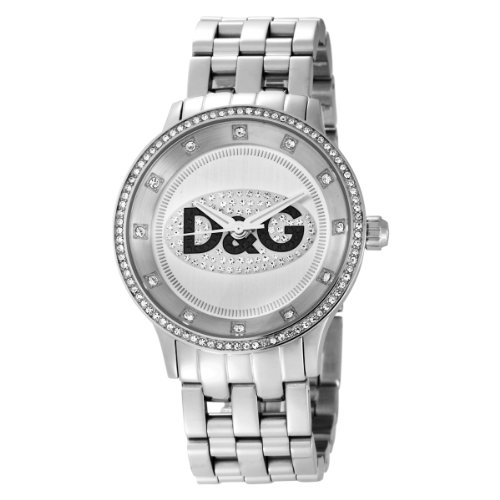 Dolce & Gabbana DW0145 Women's Analog Quartz Watch with Silver Stainless Steel Bracelet