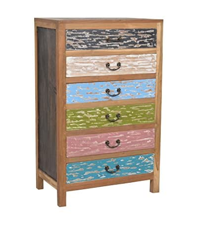 Jeffan Macedon 6-Drawer Cabinet, Multi