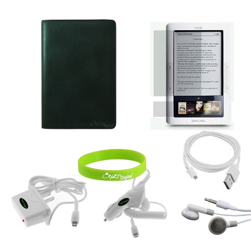 CrazyOnDigital 7-item Leather Case Accessory Kit for Barnes and Noble Nook eBook Reader