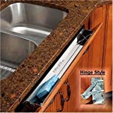 "Rev-A-Shelf 25"" Stainless Tip-Out Tray With Hinges for Kitchen Cupboard"
