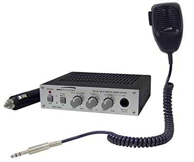 Speco PAT20 TB 20 Watt 12V Mobile PA Amplifier with Microphone from Speco