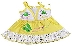 Amykids Baby Girls' Noodle Strap Frock (257g-y, Yellow, 9 - 12 Months)