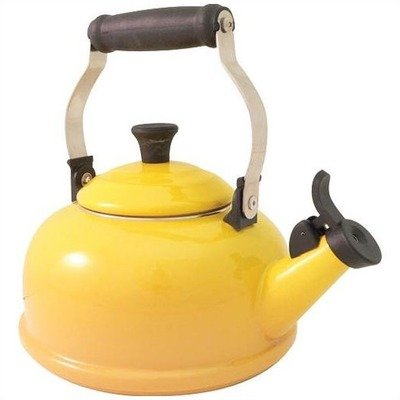 Le Creuset Enamel-on-Steel 1-4/5-Quart Whistling Kettle (Dijon)