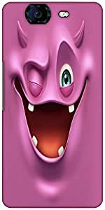 Snoogg Purple Devil Ghost 2685 Designer Protective Back Case Cover For Microm...